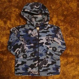 Fleece toddler zip up hooded coat